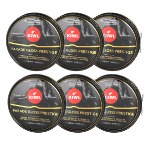 Kiwi de sc johnson, crema en lata para calzado shoe polish, color negro, 50 ml. pack de 6 unidades