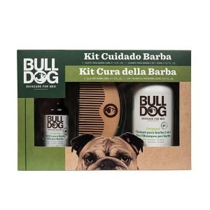 Bulldog for men, pack cuidado barba, aceite barba + champú acondicionador barba + peine