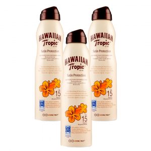 Hawaiian tropic satin protection continuous spray, bruma protectora absorción rápida, spf15, no gras