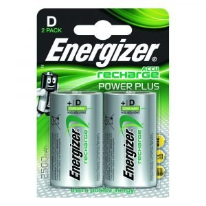 Energizer power plus accu recharge, blister 2 pilas recargables d, hr20, 2500 mah