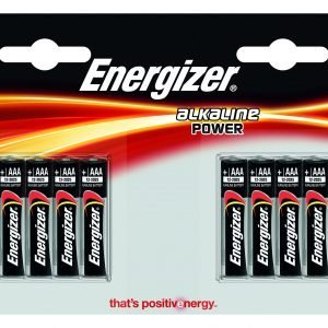 Energizer alkaline power, pack 8 unidades pilas alcalinas aaa, lr03