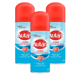 Autan family care aerosol de sc johnson, repelente de mosquitos e insectos, 100 ml. pack de 3 unidad