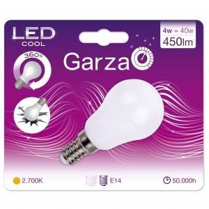 Garza lighting, bombilla cool led standard luz cálida 10w 450 lúmenes