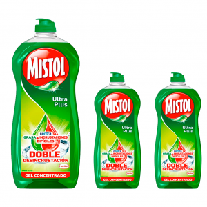 Mistol ultra plus lavavajillas mano 950 ml. pack de 3 unidades