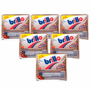 Mr muscle brillo de sc johnson, estropajo jabonoso contra grasa incrusada. pack de 6 unidades