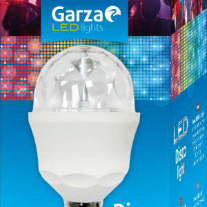 Bombilla garza led disco light, con luces de colores rgb, 3 w, casquillo e27