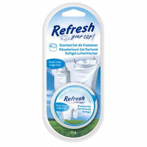 Refresh your car, ambientador coche en lata con gel fragancia lino fresco