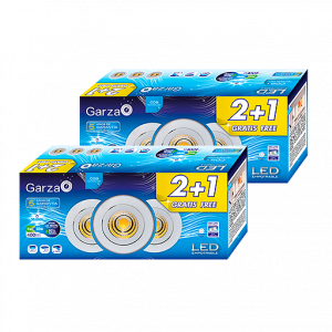 Garza lighting, blister 3 downlights empotrables led cob blanco 5w, 60º, 400 lúmenes, 4000 k, luz ne