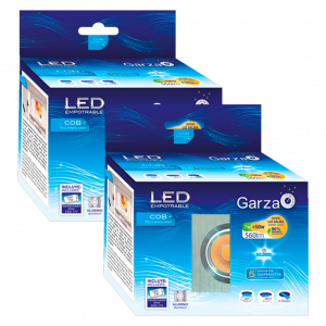 Garza lighting, empotrable downlight led cob aluminio cuadrado 7w, 60º, 560 lúmenes, 3000 k, luz cál