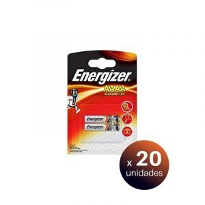 Energizer ultra plus, blister 2 pilas alcalinas aaaa lr61. pack de 20 unidades