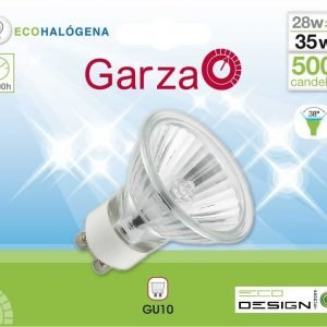 Garza lighting, bombilla eco halógena reflectante gu10 28w 215 lúmenes