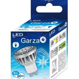 Garza lighting, bombilla led hp gu10 6w luz fría 36º 325 lúmenes