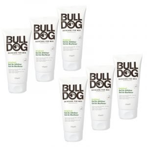 Bulldog skin care original, gel de afeitado masculino 175 ml. pack de 6 unidades