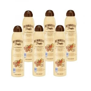 Hawaiian tropic satin protection continous spray spf30, bruma solar absorción rápida no grasa, 220 m