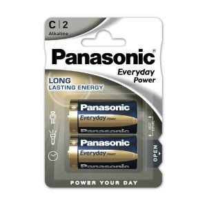 Panasonic everyday power, blister de 2 pilas alkalinas lr14 c