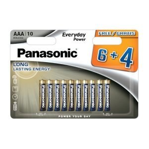 Panasonic everyday power, blister de 10 pilas alkalinas lr03 aaa