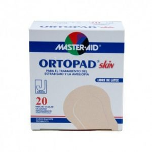 Parches oculares master aid ortopad skin junior 20 parches