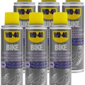 Wd-40 bike, lubricante de cadenas bicicleta. ciclismo all conditions, 250 ml. pack de 6 unidades wd