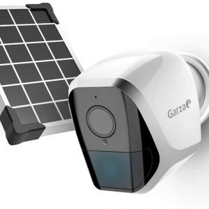 Garza smarthome, cámara lp inteligente de exterior wifi con panel solar 1080p hd