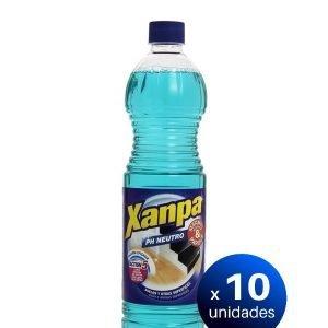 Xanpa limpiador fregasuelos ph neutro 1000 ml. pack de 10 unidades