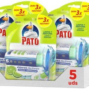Discos activos pato wc de sc johnson, aroma lima fresca, aplicador y recambio con 6 discos. pack de