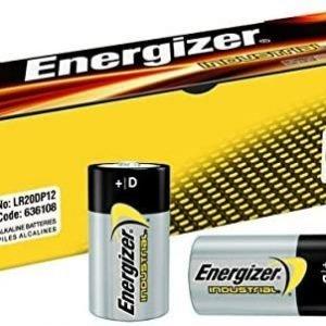 Energizer alkaline industrial pack de 12 pilas alcalinas d, lr20