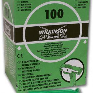 Wilkinson sword, caja ahorro 100 maquinillas de afeitar desechables, retráctil hospital, centros be