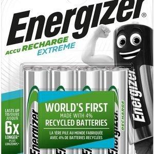 Energizer accu recharge extreme, pilas recargables aa, hr06, 2300 mah, blister 4 unidades