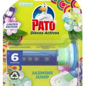 Pato - discos activos wc de sc johnson, aroma jasmine jump, aplicador y recambio con 6 discos