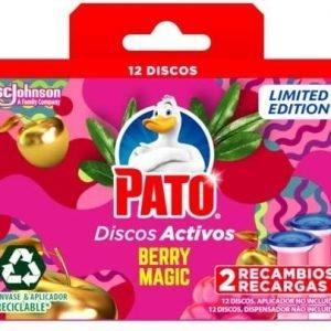 Pato - discos activos wc de sc johnson, aroma berry magic, pack de 2 recambios, 12 discos