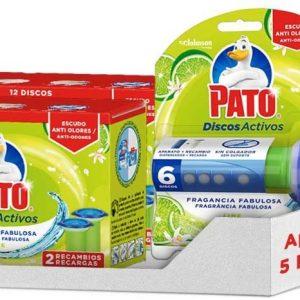 Pato - pack discos activos wc lima, contiene 1 aplicador + 5 recambios 120 grs.