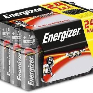 Energizer alkaline power aaa, lr03. pack de 24 pilas alcalinas