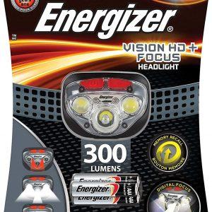 Energizer vision hd+ focus, linterna 300 lúmenes faro, 3 pilas aaa incluidas