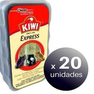 Esponja kiwi express de sc johnson auto brillante para calzado y zapatos de todos los colores. pack