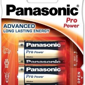 Panasonic, caja de 12 blisters de 2 pilas alcalinas panasonic pro power c lr14 1,5 v