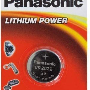 Panasonic, caja de 12 pilas panasonic botón litio cr2032 no-recargable, 3v, 225 mah