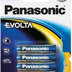 Panasonic, caja de 12 blisters de 4 pilas alcalinas panasonic evolta lr03, aaa 1,5 v