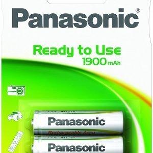 Panasonic, blister de 2 pilas recargables aa 1,2 v 1900 mah hhr-3mve/2bc