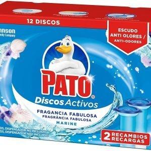 Pack 2 recambios pato discos activos wc de sc johnson, fragancia marine