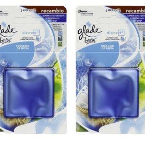 Glade by brise discreet de sc johnson, recambio ambientador eléctrico aroma frescor de ropa, 12 grs