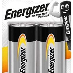 Energizer alkaline power, pack 2 unidades pilas alcalinas lr20, d