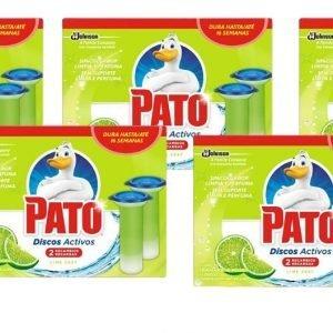 Pack 10 recambios pato discos activos de sc johnson, fragancia lima