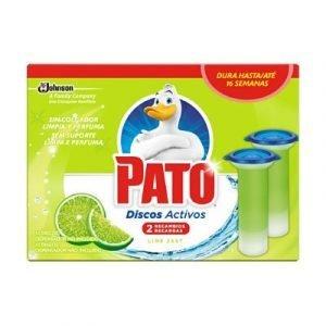 Pack 20 recambios pato discos activos de sc johnson, fragancia lima