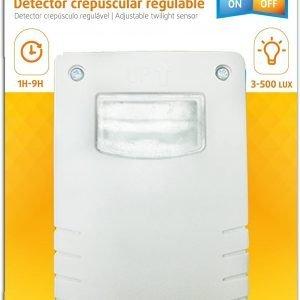 Garza power, detector crepuscular regulable exterior, protección ip44