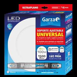 Garza lighting, downlight led con soporte ajustable universal, 18w, 1500 lúmenes, luz fría