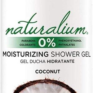 Naturalium, gel de baño aroma coco, hidratante con olor a fruta fresca. sin parabenos ni colorantes