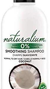 Naturalium, champú suavizante de coco con acondicionador para cabello normal y seco, sin parabenos,