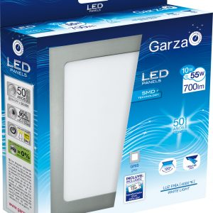 Garza lighting, foco downlight panel led, 10 w, 120º, 700 lúmenes, aluminio