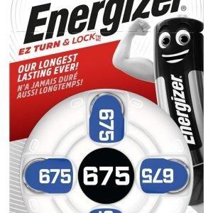 Energizer, blister de 4 pilas audífono zinc aire ac675
