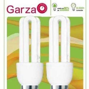 Garza lighting, blister de 2 bombillas stick t3 15w e27 800 lúmenes 27k